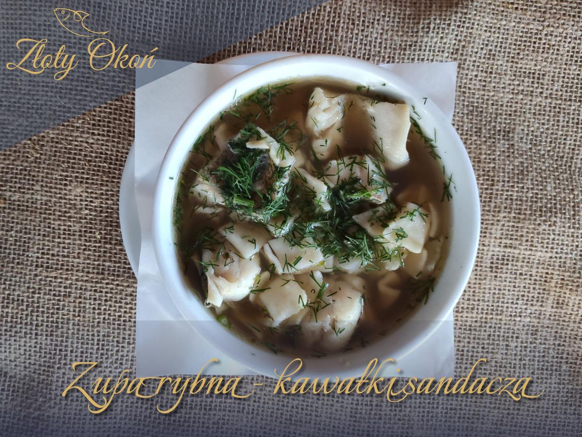 Zupa rybna - kawałki sandacza